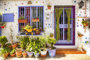 Spanish village  in spring