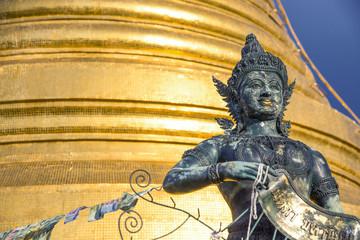 Statue at Wat Saket in Bangkok Thailand