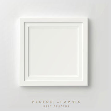 white square frame on the wall.