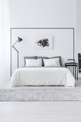 Black and white simple bedroom