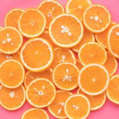 Group of orange slice.fruit and summer concept