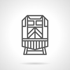 Locomotive black simple line vector icon
