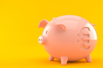 Piggy bank with euro symbol