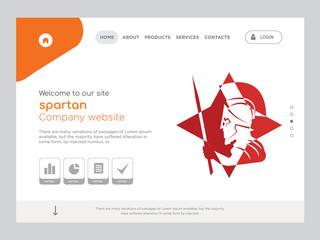 spartan Landing page website template design