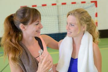 girls practicing sport