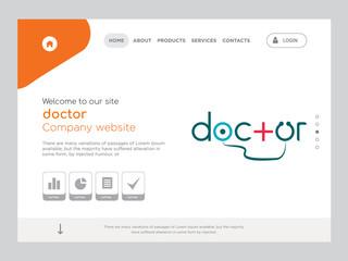doctor Landing page website template design