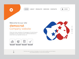 democrat Landing page website template design