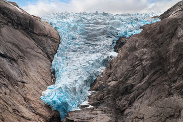 Ice Front of the Briksdalsbreen Glacier