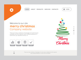 merry christmas Landing page website template design