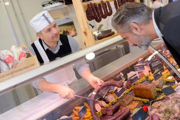 buying a sausage