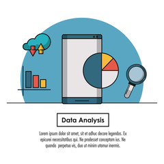 Data analysis infographic concept with elements vector illustration graphic design