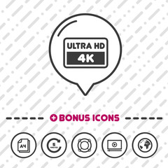 Ultra HD Screen icon. 4k symbol.