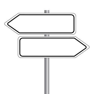 Wegweiser - Straßenschild ohne Text. Vektor Eps10.