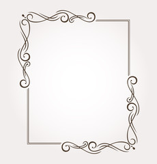 Fancy frame and page decoration. Vector illustration