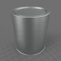 Closed paint tin can