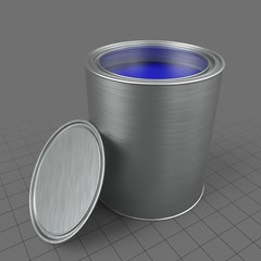 Open paint tin can