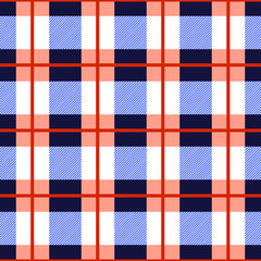 Tartan plaid seamless pattern. Checkered tartan vector background.