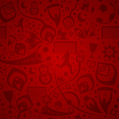 red soccer background