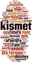 Kismet word cloud