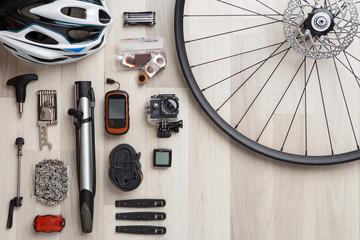 Wheel, helm, seat, helmet, tire. Empty place for inscription