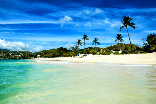 Shallow waters of Grenada