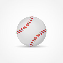 Baseball isolated on white background. Ball vector illustration.