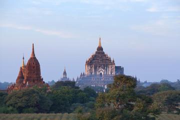 Aerial view of ancient Thatbyinnyu Temple in Bagan, Mandalay division, Myanmar