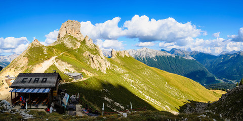Catinaccio mountain massif summits