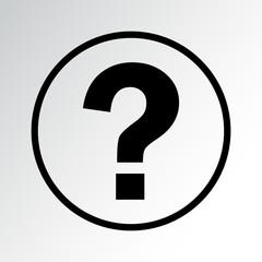 Help icon. Question mark. Vector illustration