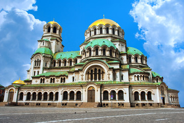 Alexander Nevsky cathedral and square in Sofia, Bulgaria