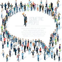 People crowd comment speech bubble