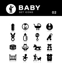 Baby icons colelction.
