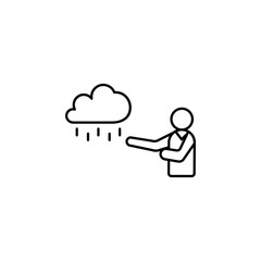 weather forecast icon. Element of media and news for mobile concept and web apps. Detailed weather forecast icon can be used for web and mobile. Premium icon