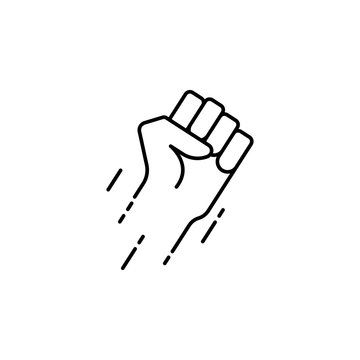 flying fist icon. Element of speed for mobile concept and web apps illustration. Thin line icon for website design and development, app development. Premium icon