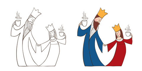 King and Queen with cups