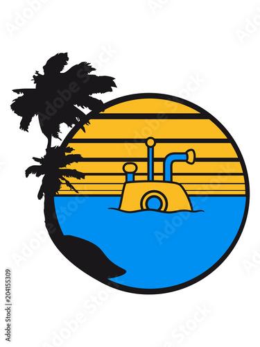 Palmen Strand Urlaub U Boot Schwimmen Tauchen Unterwasser Schiff