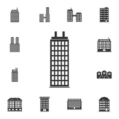 Residential building icon. Simple element illustration. Residential building symbol design  from Buildings collection set. Can be used for web and mobile