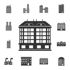 Skyscraper building icon. Simple element illustration. Skyscraper building symbol design  from Buildings collection set. Can be used for web and mobile