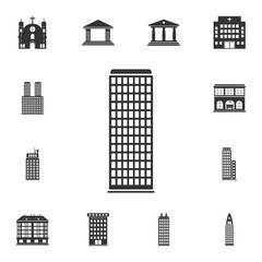 Building icon. Simple element illustration. Building symbol design  from Buildings collection set. Can be used for web and mobile