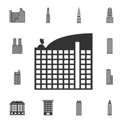 Hotel building icon. Simple element illustration. Hotel building symbol design  from Buildings collection set. Can be used for web and mobile