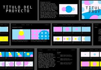 Diseño de guion gráfico abstracto