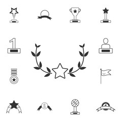 Award icon. Simple element illustration. Award symbol design  from Awards collection set. Can be used for web and mobile