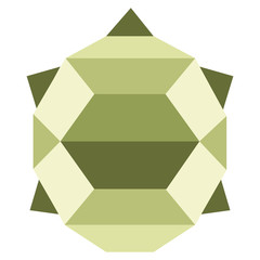 Abstract low poly turtle icon