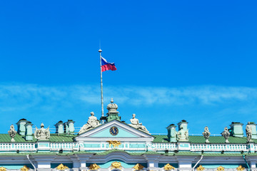 roof of the winter Palace in St. Petersburg, against the sky, may 2018