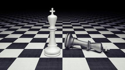 Chess figures business concept 3d render 3d illustration