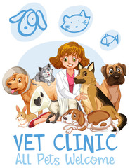 Cute Pets Clinic  Welcome Sign