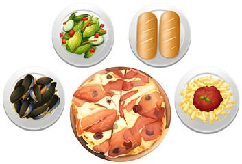An Italian Pizza Set menu