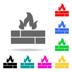 fire sign icons. Elements of human web colored icons. Premium quality graphic design icon. Simple icon for websites, web design, mobile app, info graphics