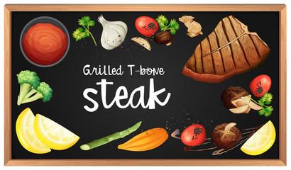 Steak Menu and Element on Blackboard