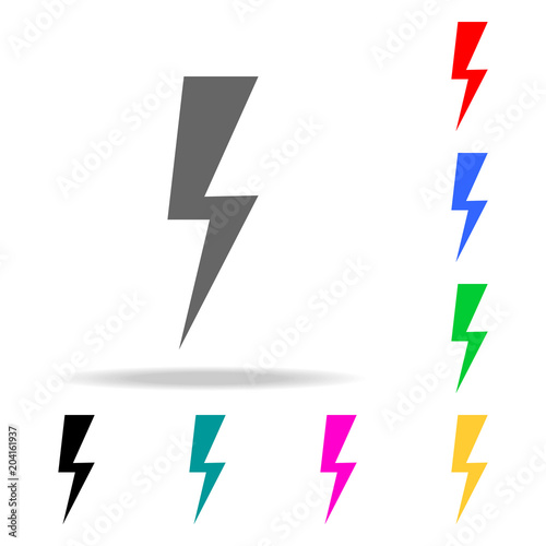 sign of lightning icons  Elements of human web colored icons